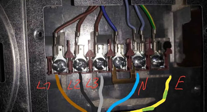 Подключение кабеля электроплиты 380В